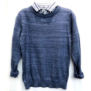 🆕 NEXT boys sweater with faux woven shirt 4-5Y
